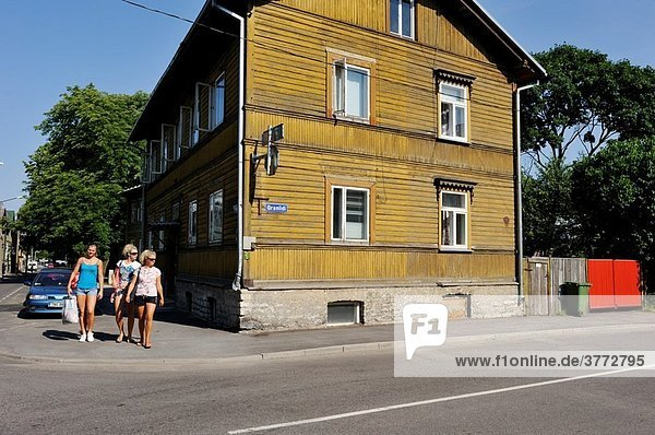 wooden houses of Kalamaja district  Tallinn  estonia  northern europe
