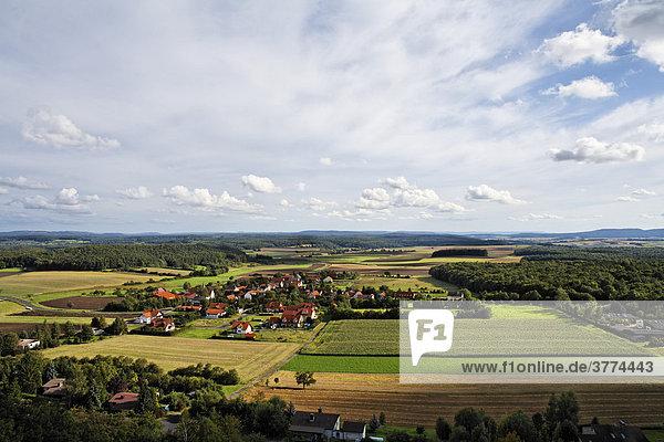 Zimmerau  Blick vom Bayernturm  Gde. Sulzdorf a. d. Lederhecke  Rhön-Grabfeld  Unterfranken  Bayern