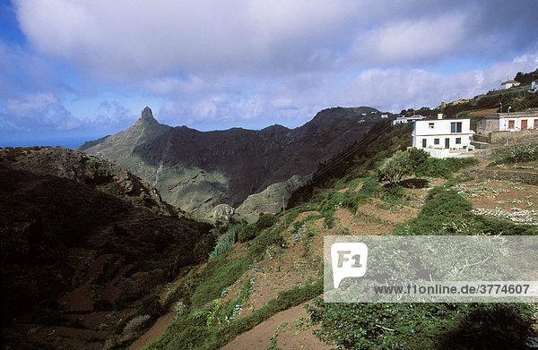 Anaga-Gebirge  Las Carboneras  Roque del Taborno  Teneriffa  Kanarische Inseln  Spanien