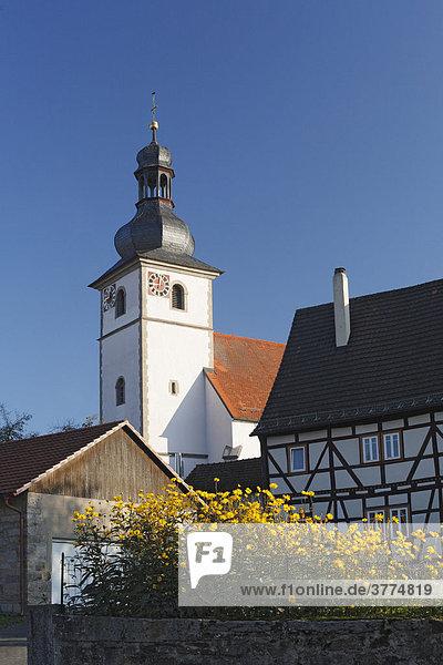 Oberleichtersbach  Rhoen  Franconia  Bavaria  Germany