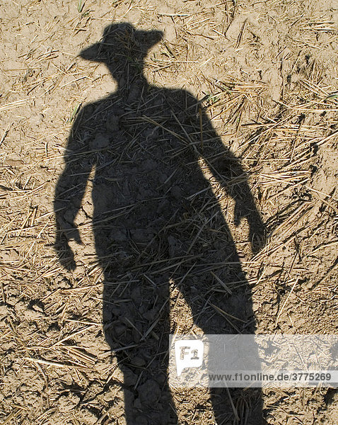 Schattenspiel  Mann mit Hut