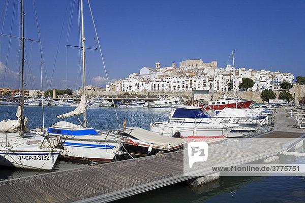 Port of Peniscola  Costa Azahar  Spain  Europe