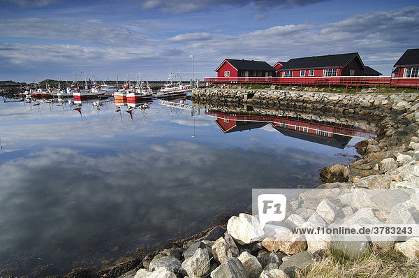 Fishing port  Andesnes  Vesteralen  Norway  Scandinavia  Europe