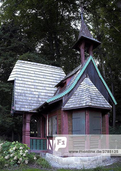 Hexenhaus im Stadtgarten von Überlingen am Bodenseee  Landkreis Überlingen  Baden-Württemberg  Deutschland