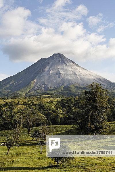 Active volcano Arenal near Fortuna  Costa Rica