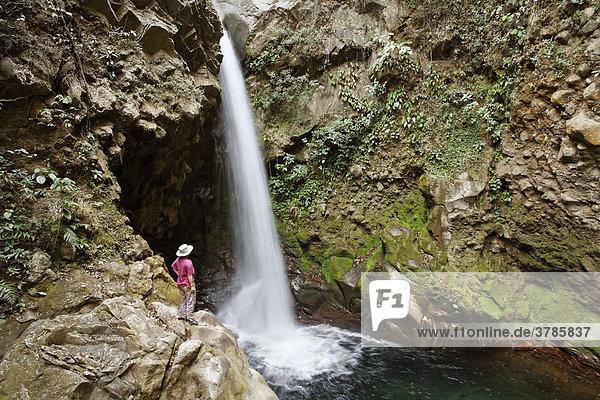 Wasserfall  Hacienda Guachipelin  Rincon de la Vieja  Guanacaste  Costa Rica