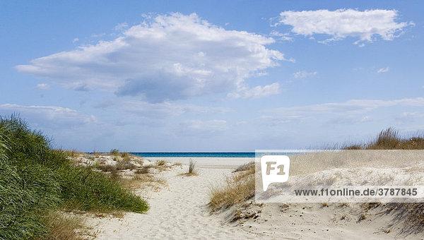 Dunes on the beach of La Caletta  Sardinia  Italy