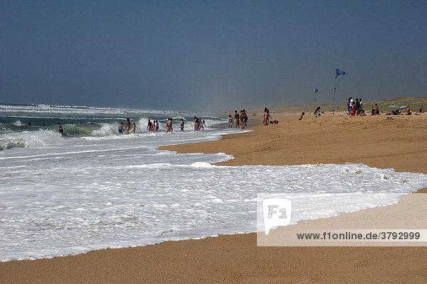 Strandleben am Atlantik Frankreich