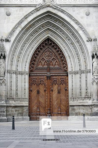 Kirchenportal in Bilbao Spanien