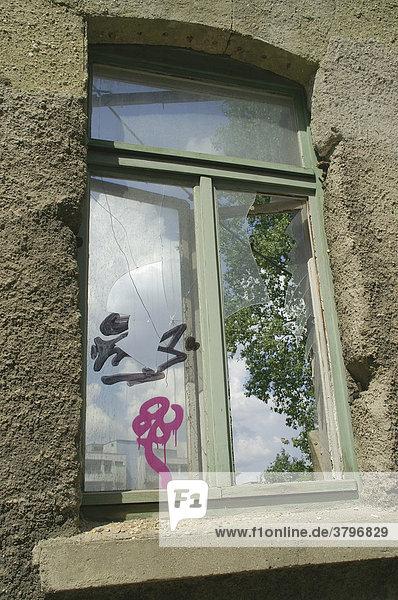 Ruine eines alten Wohnhauses in Leipzig