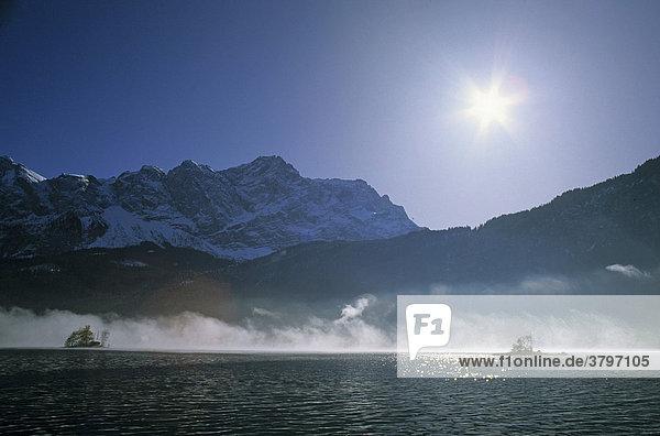 Eibsee mit Zugspitze - Oberbayern Werdenfelser Land