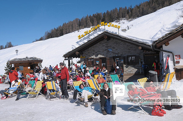 Pila Piemont Skipiste Piste Aostatal Italien