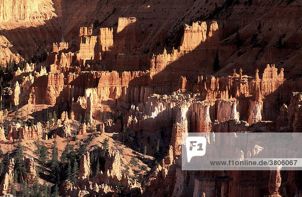 Sandsteinformationen  Bryce Canyon Nationalpark  Utah  USA