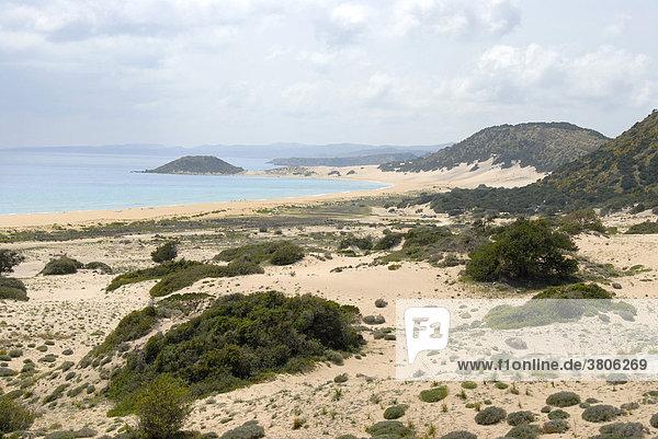 Weiter Sandstrand Golden Sands Beach Karpaz Halbinsel Nordzypern Zypern