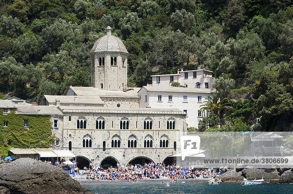 San Fruttuoso near Portofino Riviera di Levante Liguria Italy