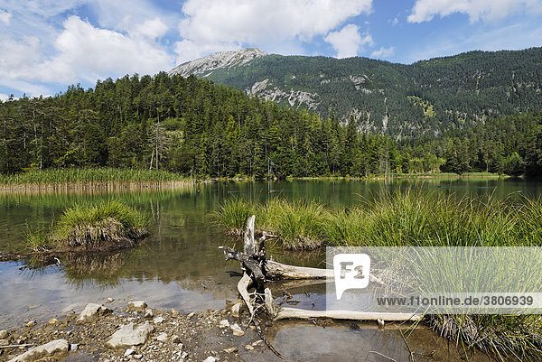 Weissensee next the Fernpass Tyrol Austriain in front of the Grubigstein mountain