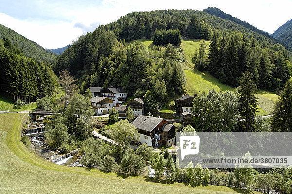 Luesen Luson in The Val di Luson Luesener Tal under the Plose near Brixen Southern Tyrol Alto Adige Italy