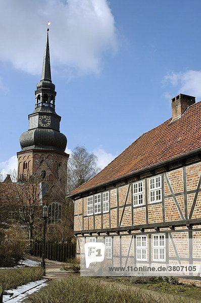 Stade west of Hamburg at the Elbe Lower Saxony Germany former Johannis monastery with the church St. Cosmae