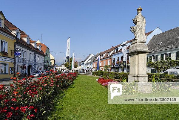 Stainz district of Deutschlandsberg Styria Austria Hauptplatz main square