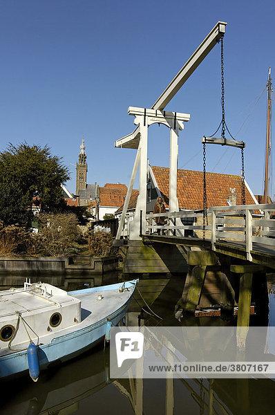 Edam Volendam North Holland Netherlands the Kwakel bridge