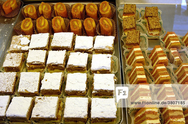 Petit four sweets cakes in a Pasticceria bakery
