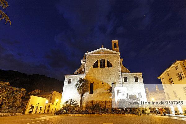 Collegiata church  Arco  near Lake Garda  Italy