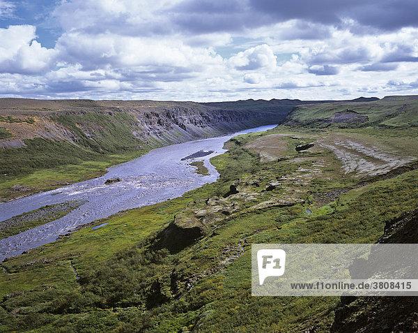 The Jökulsa a Fjöllum river between HÛlmatungur and Dettifoss  Joekulsarglufur National Park  Iceland