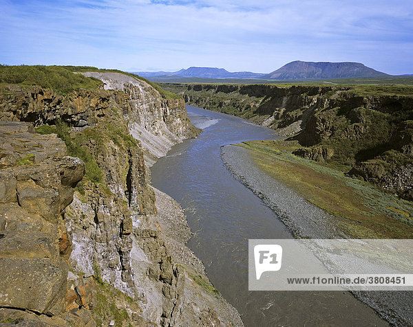 The river Joekulsa a Fjoellum which runs in the gorge Joekulsarglufur  Joekulsarglufur National Park  Iceland