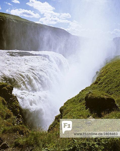 Waterfall Gullfoss  Kjölur  Iceland