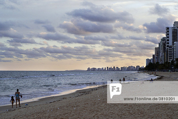 Beach in the late afternoon  Recife  Brazil
