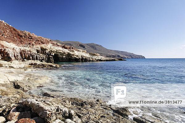 Skinias-Bucht (Karoumbes-Bucht)  Ostkreta  Kreta  Griechenland