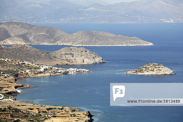 Mochlos  Golf von Mirabello (Mirambello)  Ostkreta  Kreta  Griechenland