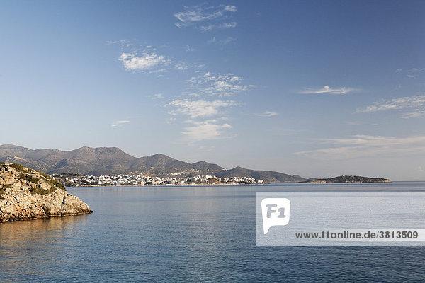 Agios Nikolaos (Aghios Nikolaos)  Golf von Mirabello (Mirambello)  Ostkreta  Kreta  Griechenland