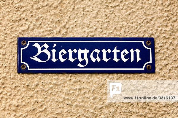 Signpost beergarden