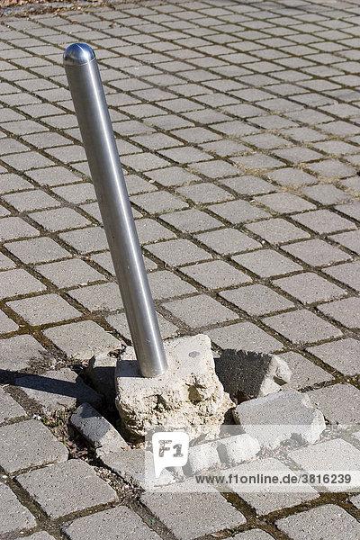 A demolished post