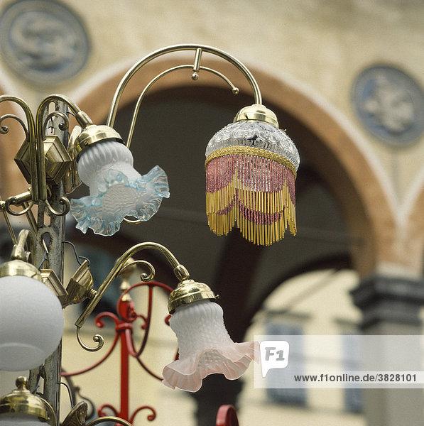 Flohmarkt in der Altstadt von Florenz  Toskana  Italien Flohmarkt in der Altstadt von Florenz, Toskana, Italien