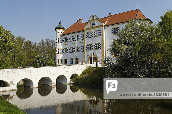Niederarnbach district of Neuburg-Schrobenhausen Upper Bavaria Germany castle of the barons of Pfetten