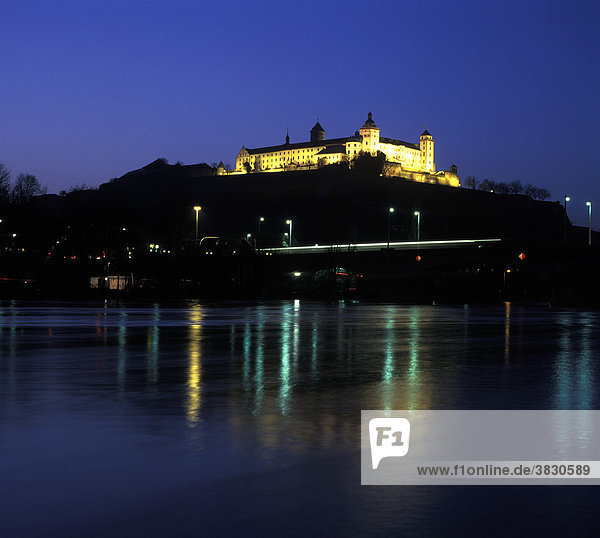 Wuerzburg upon the river Main Lower Frankonia Germany castle and fortress Marienberg upon the river Main