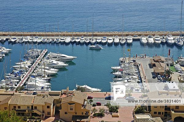 Boote im Hafen von Campomanes  Marina Greenwich Port Esportiu  Altea  Costa Blanca  Spanien