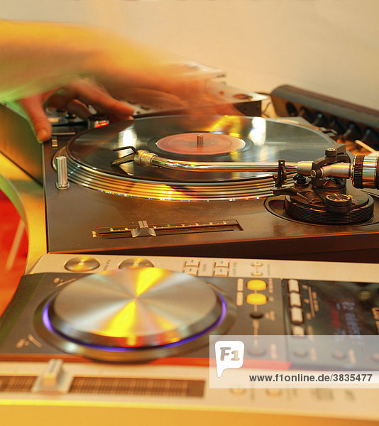 Plattenteller  dj  musik