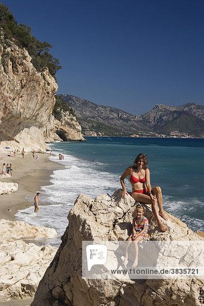 Strand Cala di Luna Sardinien Italien