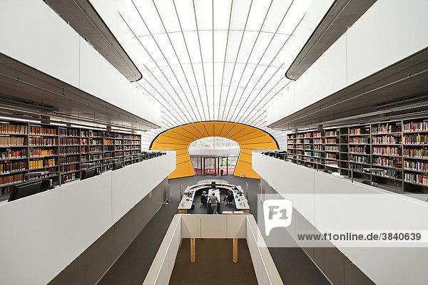 Neue Philologische Bibliothek der Freien Universität  FU  Berlin  entworfen von Norman Foster  Berlin  Deutschland  Europa Neue Philologische Bibliothek der Freien Universität, FU, Berlin, entworfen von Norman Foster, Berlin, Deutschland, Europa