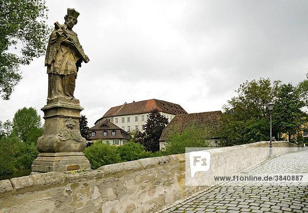 Alte Brücke in Höchstadt an der Aisch  Mittelfranken  Bayern  Deutschland  Europa