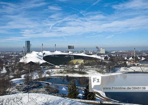 Olympiastadion  Olympiapark in München  Bayern  Deutschland  Europa