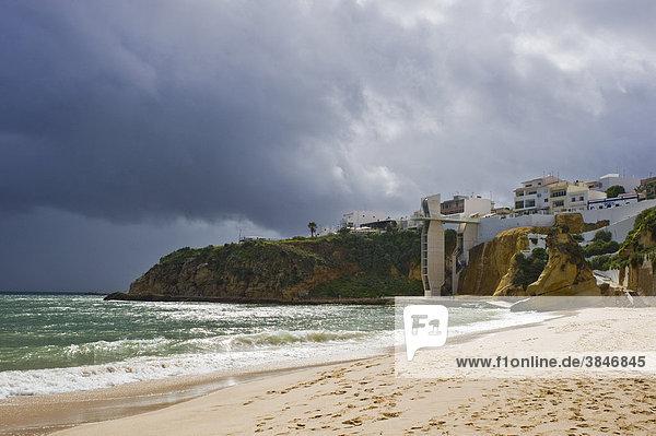 Sandy beach  Albufeira  Algarve  Portugal  Europe