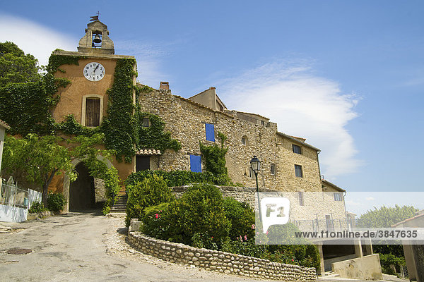 Festungsturm in Rasteau  Provence  Südfrankreich  Frankreich  Europa