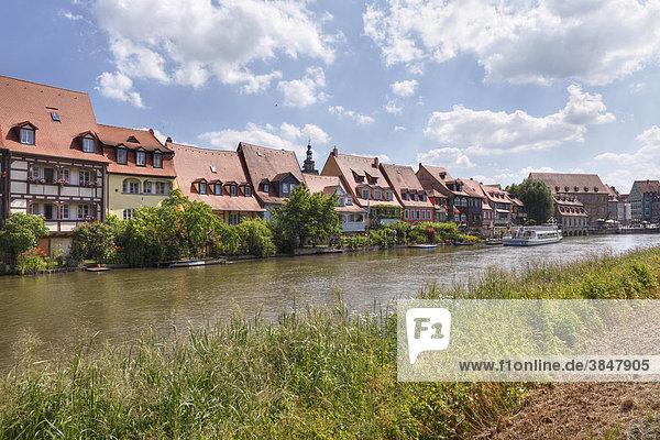 Klein-Venedig  Fluss Regnitz  Bamberg  Oberfranken  Franken  Bayern  Deutschland  Europa