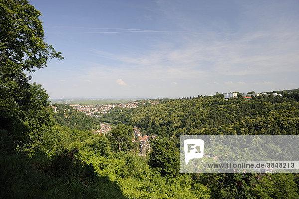Blick über Bad Dürkheim von der Klosterruine Limburg  Bad Dürkheim  Rheinland-Pfalz  Deutschland  Europa