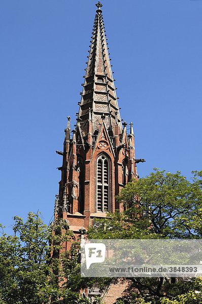 Turm der Neugotischen Christuskirche  1864 eingeweiht  Hannover  Niedersachsen  Deutschland  Europa