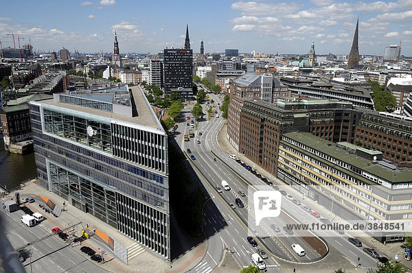 Deichtor Center office building  Hamburg  Germany  Europe